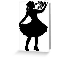 Oh Honey, You KNEW!! (Black Silhouette 1) Greeting Card