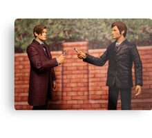 The Eleventh Doctor Meets The Tenth Doctor Metal Print
