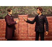 The Eleventh Doctor Meets The Tenth Doctor Photographic Print