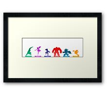 Baymax Heroes Framed Print