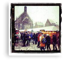 Nuremberg Christmas Market Canvas Print