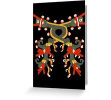 Aztec double double dragon Greeting Card