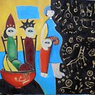 """ART by bec """"Barefoot and Pregnant in the Kitchen"""" by ARTbybec"""