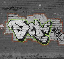 graffitti on a wall by jamespics