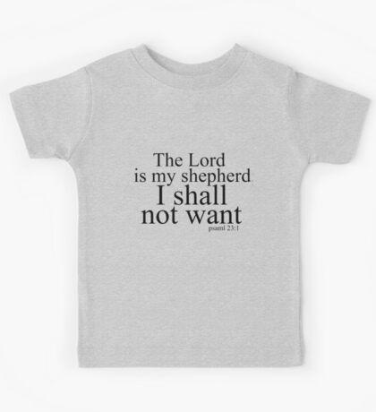The Lord is my shepherd Kids Tee