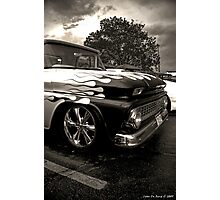 Pickups and Thunderstorms Photographic Print