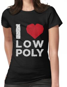 I LOVE LOW POLY Womens Fitted T-Shirt