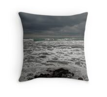 Seascape - changeable weather Throw Pillow
