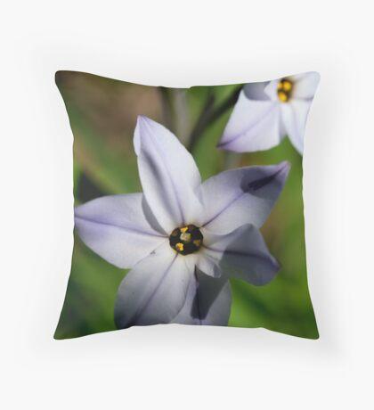 Flower of Light Blue Throw Pillow