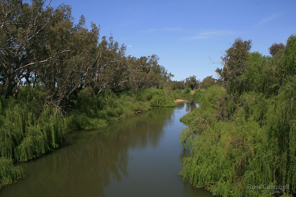 "Macquarie River at ""Troy"" Crossing. by Ross Campbell"