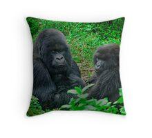 Silverback in Rwanda Throw Pillow