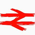 Doodle Style BR Double arrow logo. by 2cimage