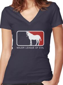 Major League of Evil Women's Fitted V-Neck T-Shirt