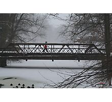 Wintry walk Photographic Print