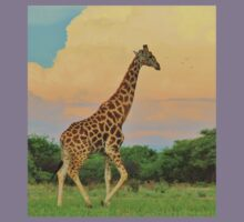 Giraffe - African Wildlife - The Rain is Coming Kids Clothes