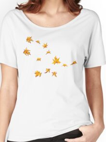 Leaves Pattern Women's Relaxed Fit T-Shirt