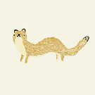 Fluffy Weasel by Sophie Corrigan