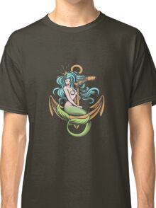 Mermaid with Crown on the Anchor Classic T-Shirt