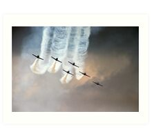 Formation flying Art Print