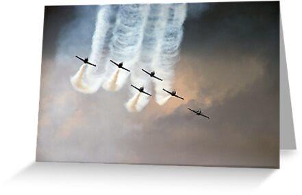 Formation flying by Bob Martin