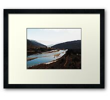 blue waters. Framed Print
