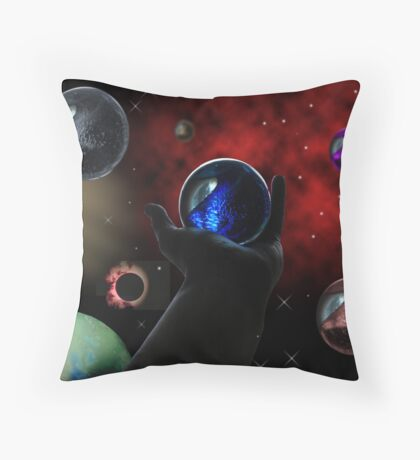The World Extends Beyond Us Throw Pillow
