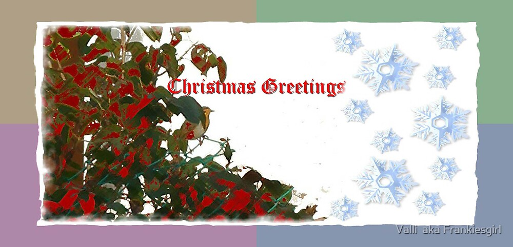 Robin Redbreast 2 - Chrissie Card by Valli  aka Frankiesgirl