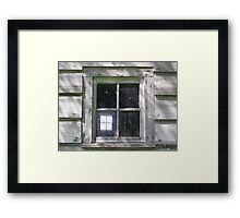 Window Within Framed Print