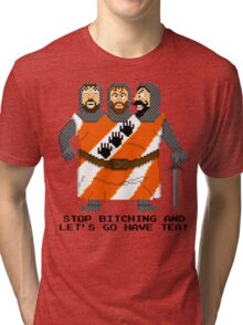 Threed Headed Giant - Monty Python and the Holy Pixel Tri-blend T-Shirt