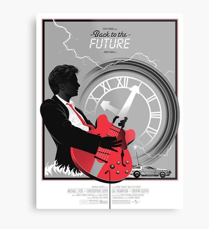 Back to the Future Poster Metal Print