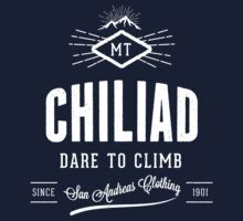 GTA V Mount Chiliad 'Dare to Climb' T-Shirt by dsmithonline