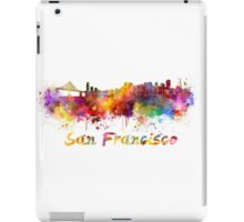 San Francisco skyline in watercolor iPad Case/Skin