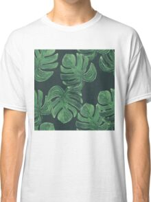 Tropical leaves. Jungle leaves pattern Classic T-Shirt
