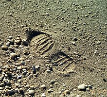 Footprint in the Sand by Martha E. Hoskins