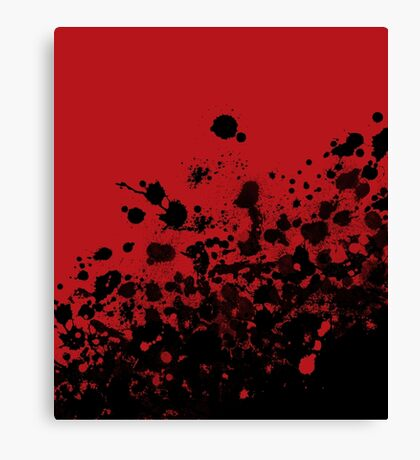 """""""Confidence"""" (Red and Black Splatter) Canvas Print"""