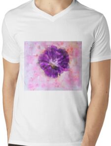 Purple and pink Mens V-Neck T-Shirt