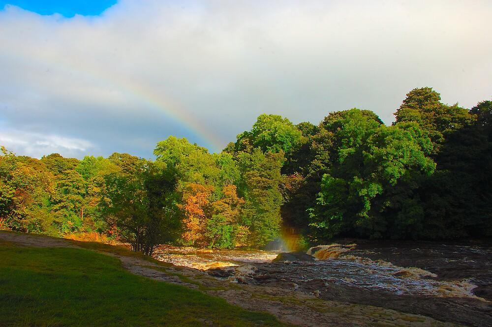 Aysgarth -the end of the rainbow by Steve