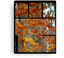 Looking out on Fall's Beauty Canvas Print