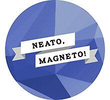 Neato, Magneto! Photographic Print
