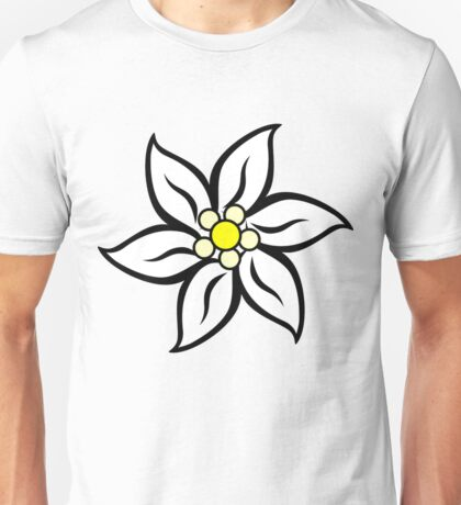 Edelweiss on Red Unisex T-Shirt
