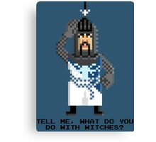 Bedevere - Monty Python and the Holy Pixel Canvas Print