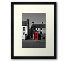 Red With A Hint Of Blue Framed Print