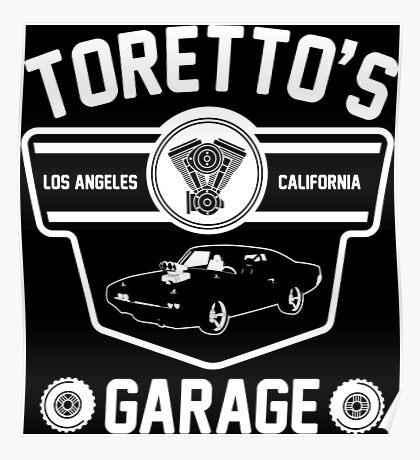 Toretto's Garage Poster