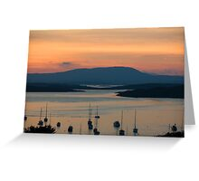 Golden Irish Sunset Greeting Card