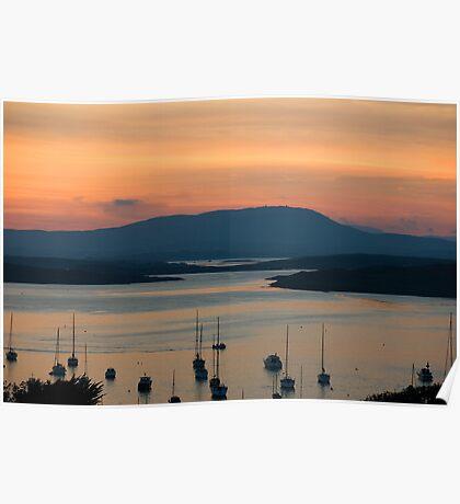 Golden Irish Sunset Poster