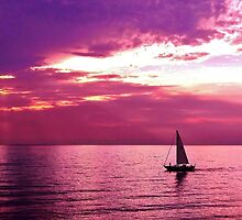 Sailing Into The Setting Sun by Kathilee
