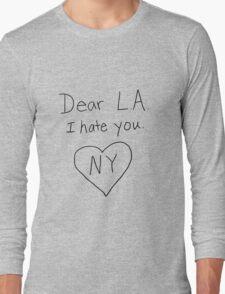 LA I hate you, love NY Long Sleeve T-Shirt