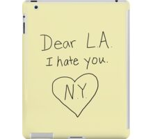 LA I hate you, love NY iPad Case/Skin
