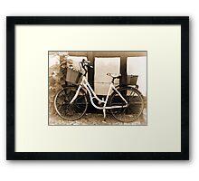 Vintage Classical  Bicycle Framed Print