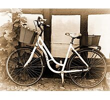 Vintage Classical  Bicycle Photographic Print
